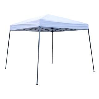 Trademark Innovations White Lightweight Portable Slant-leg Canopy