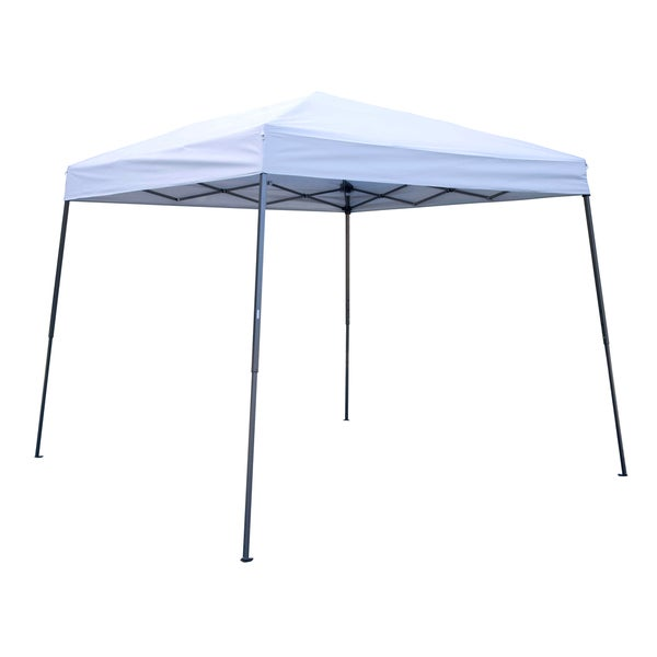 Trademark Innovations White Lightweight Portable Slant-leg Canopy