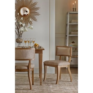 "Madison Park Signature Marie Beige/ Light Natural Dining Chair (Set of 2) - 20.625""w x 21.5""d x 31.375""h (2)"