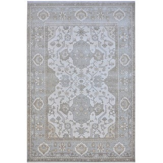 Herat Oriental Indo Hand-knotted Tribal Oushak Wool Rug (10' x 14')