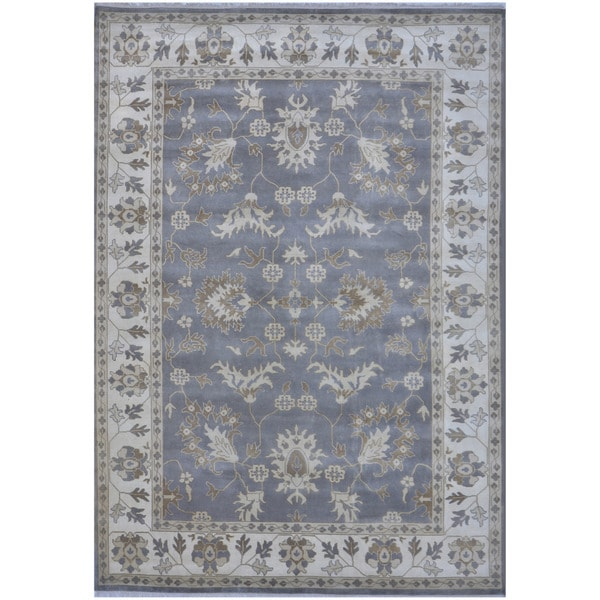 Herat Oriental Indo Hand-knotted Tribal Oushak Wool Rug - 10'3 x 13'9