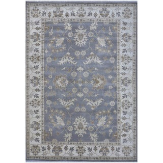 Herat Oriental Indo Hand-knotted Tribal Oushak Wool Rug (10'3 x 13'9)