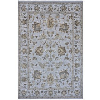 Herat Oriental Indo Hand-knotted Tribal Oushak Wool Rug (10' x 14'2)