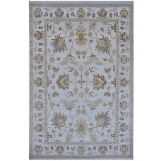 Handmade Herat Oriental Indo Tribal Oushak Wool Rug (India) - 10' x 14'2