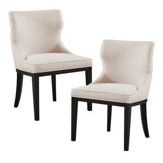 Madison Park Signature Hutton Linen/ Black Dining Chair (Set of 2)