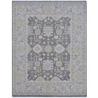 Herat Oriental Indo Hand-knotted Tribal Oushak Wool Rug (7'11 x 9'11)
