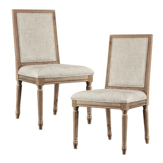 Madison Park Signature Lulu Beige/ Light Natural Dining Chair (Set of 2)