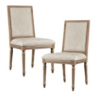 Madison Park Signature Lulu Beige/ Light Natural Dining Chair (Set of 2)