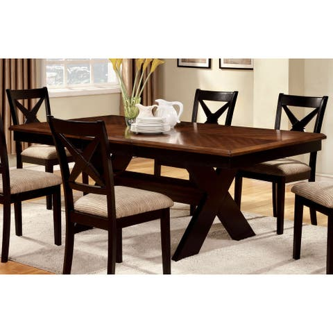 Furniture of America Quet Transitional Oak 78-inch Dining Table