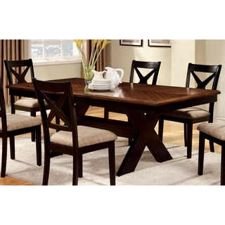 Furniture of America Berthetta Two-tone 78-inch Dining Table with Leaf