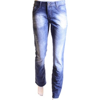 Dinamit Men's JSM Straight-leg Blue Cotton Jeans