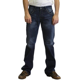 Dinamit Men's JT Blue Cotton Straight-leg Jeans
