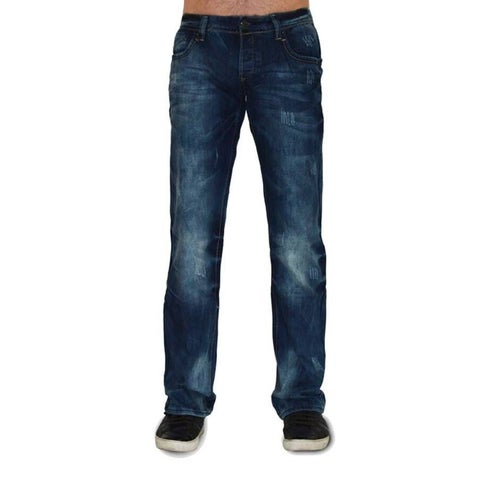 Dinamit Men's Five Pocket Dark Blue Denim Jeans