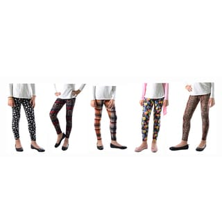 Multicolored Spandex Printed Legging (Pack of 5)