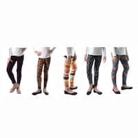 Fun Girls Printed Leggings Size From XS to XL (Pack of 5)