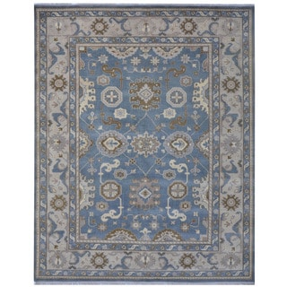 Herat Oriental Indo Hand-knotted Tribal Oushak Wool Rug (8'1 x 9'11)