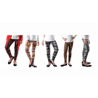 Floral Animal Printed Spandex Legging (Pack of 5)