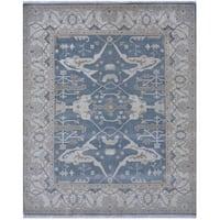 Handmade Herat Oriental Indo Tribal Oushak Wool Rug - 8'2 x 9'11 (India)