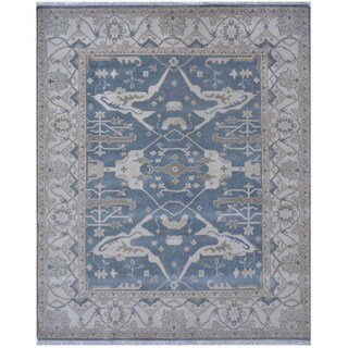 Handmade Herat Oriental Indo Tribal Oushak Wool Rug (India) - 8'2 x 9'11
