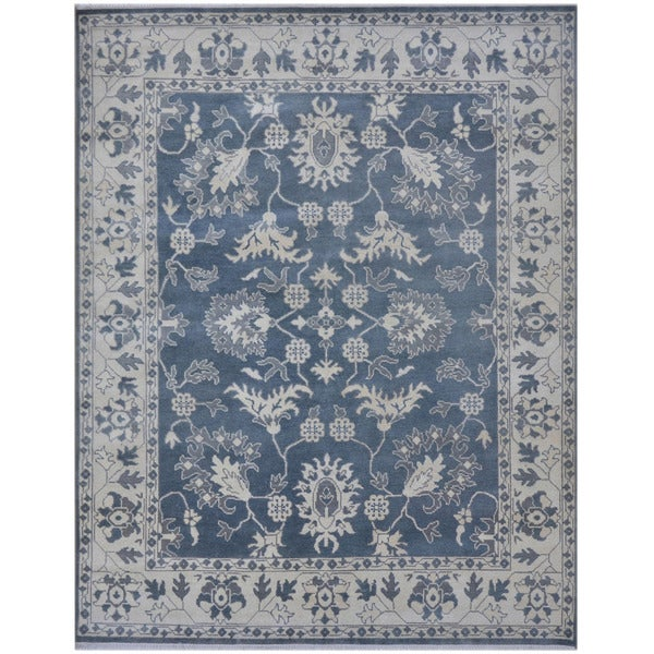 Herat Oriental Indo Hand-knotted Tribal Oushak Wool Rug (8'4 x 10'2)