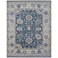 Herat Oriental Indo Hand-knotted Tribal Oushak Wool Rug (8'1 x 10')