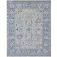 Herat Oriental Indo Hand-knotted Tribal Oushak Wool Rug (8'1 x 9'10)