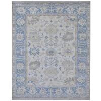 Handmade Herat Oriental Indo Tribal Oushak Wool Rug - 8'1 x 9'10 (India)
