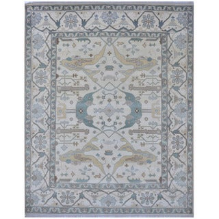 Herat Oriental Indo Hand-knotted Tribal Oushak Wool Rug (8'4 x 10'4)