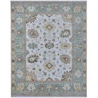 Herat Oriental Indo Hand-knotted Tribal Oushak Wool Rug (8' x 9'11)