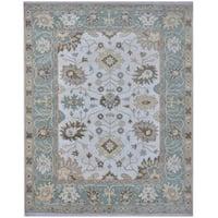 Handmade Herat Oriental Indo Tribal Oushak Wool Rug - 8' x 9'11 (India)