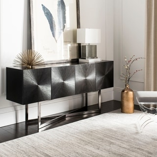 Safavieh Couture High Line Collection Zena Black Nickel Buffet Table