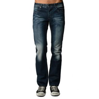 Dinamit Blue Denim Dark Wash Distressed 5-pocket Jeans