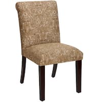 Skyline Furniture 'Ogee Paisley Coppper' Tan Upholstered Dining Chair