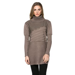 High Secret Women's Wool and Cashmere Striped Knit Turtleneck Tunic|https://ak1.ostkcdn.com/images/products/13926069/P20559002.jpg?impolicy=medium