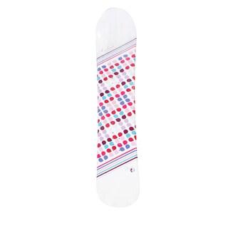 Avalanche Women's Finesse White Custom Graphics Printed Snowboard