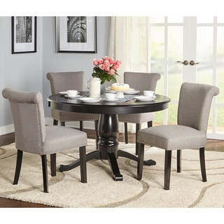 Simple Living 5-Piece Adeline Pedestal Dining Set