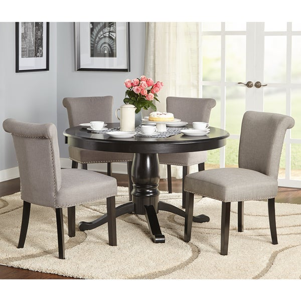Captivating Simple Living 5 Piece Adeline Pedestal Dining Set