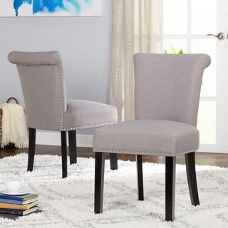 Simple Living Adeline Nailhead Parsons Dining Chair (Set of 2)