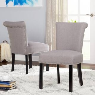 Simple Living Adeline Nailhead Parsons Dining Chair Set Of 2