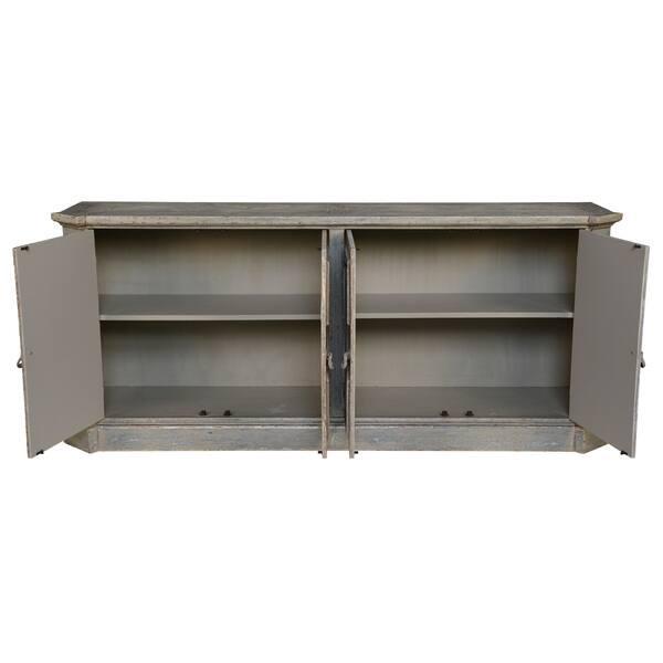 Andrea Grey Wood 72 Inch Sideboard