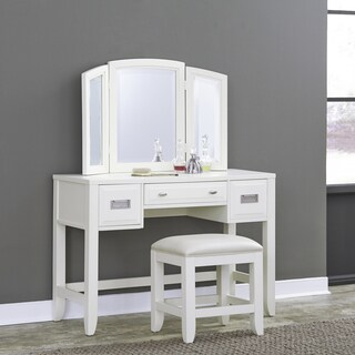 Newport Vanity with Mirror & Vanity Bench: by Home Styles
