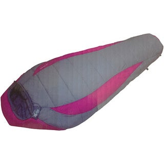 Moose Country Gear Cascade 5LD Grey and Purple Mummy Sleeping Bag