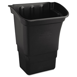Rubbermaid Commercial Optional Utility Cart Refuse/Utility Bin Rectangular 8gal Black