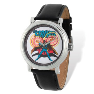 Marvel Stainless Steel Men's Dr. Strange Black Band Watch