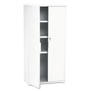 Iceberg OfficeWorks Resin Storage Cabinet 33-inch wide x 18-inch deep x 66-inch high Platinum