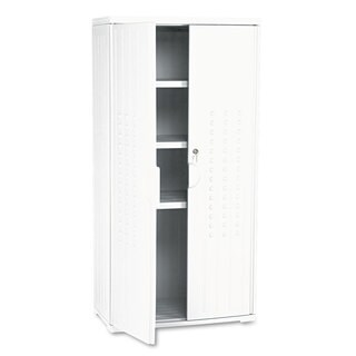 Iceberg OfficeWorks Resin Storage Cabinet 33-inch wide x 18-inch deep x 66-inch high Platinum