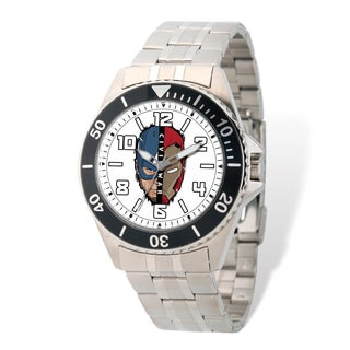 Marvel Stainless Steel Men's Civil War Silver-tone Band Watch
