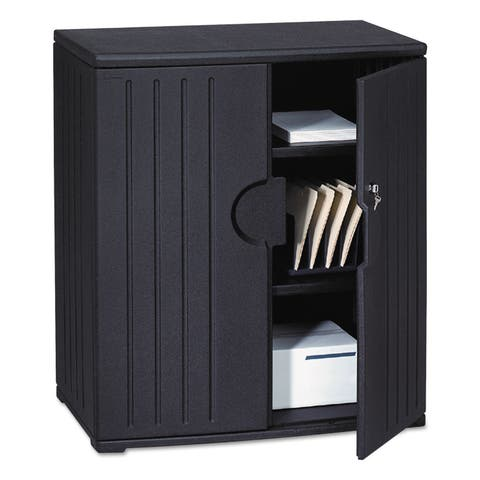Iceberg OfficeWorks Resin Storage Cabinet 36-inch wide x 22-inch deep x 46-inch high Black