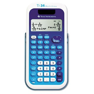 Texas Instruments TI-34 MultiView Scientific Calculator 16-Digit LCD