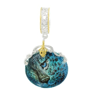 """One-of-a-kind Michael Valitutti """"Leopard"""" Hand-Painted Mother-of-Pearl Shell Charm"""
